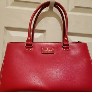 Classic red Kate Spade leather purse